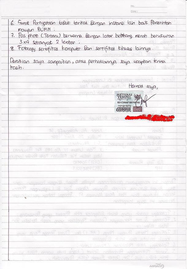 contoh surat kematian