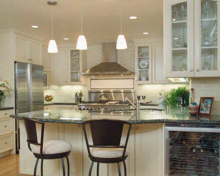 Ini dia ide desain dapur trend 2016 artikel islam for Kitchen island track lighting